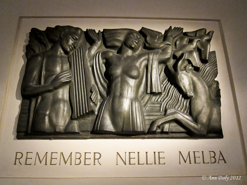 "Bas-relief for Melba memorial ""Remember Nellie Melba"", Sydney Town Hall, 1941"